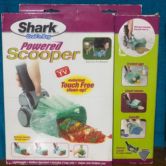 Shark Grab n Bag Touch-Free Powered scooper
